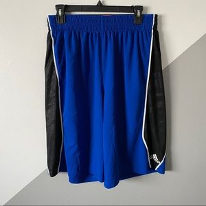 Adidas L Basketball Shorts Climalite Pockets Long